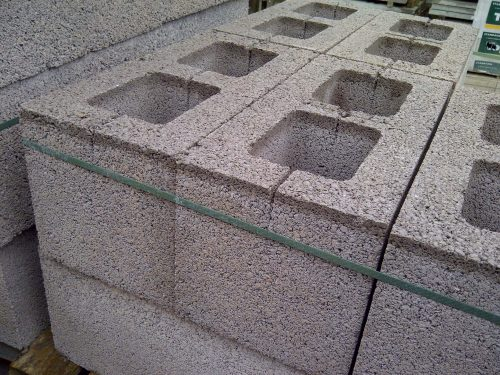 Pack (40) of 215mm Hollow Concrete Blocks