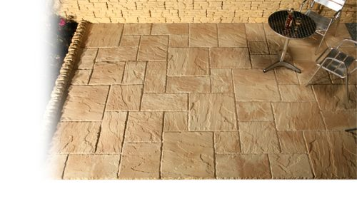 Garden Stone Riven Paving - Weathered Shades