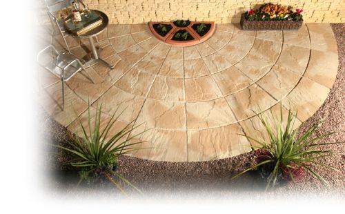 Garden Stone Paving Rotunda Circles - Weathered Shades